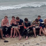 surfing lessons lesson lunch