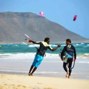 kitesurfing kite beach