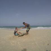 Kitesurfing in Cape Verde Sal