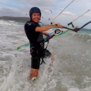 kitesurfing board lesson